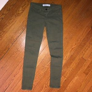 Just USA Olive Green Skinny Jeans